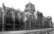 Bristol, The Cathedral From College Green 1887