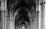 Bristol, The Cathedral, Nave East 1887