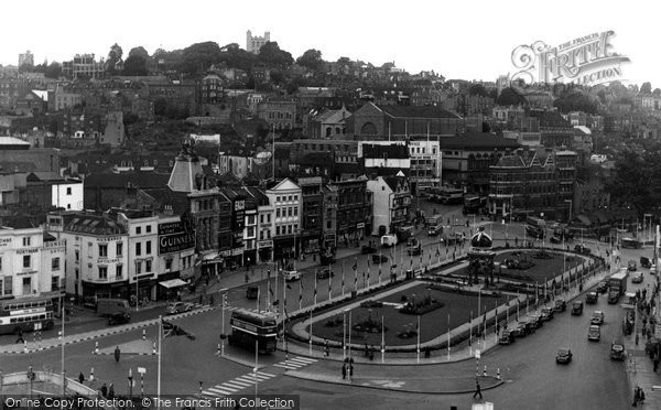Bristol, The City Centre c.1953
