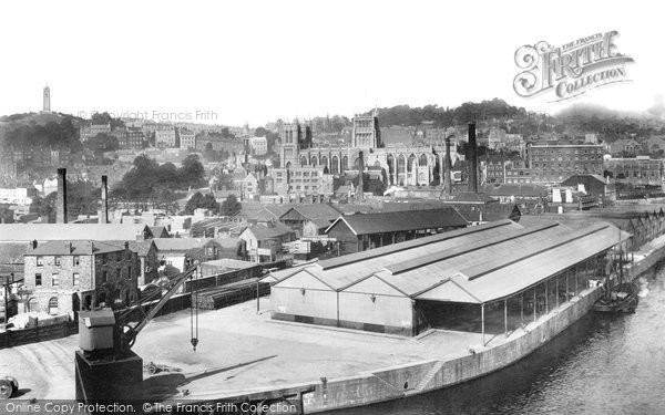 Bristol, The View From The Granary 1901