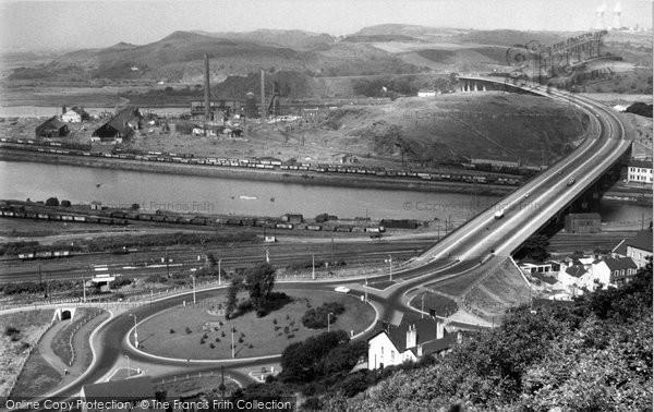 Briton Ferry, The New Bridge 1959