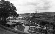 Briton Ferry, The Rose Garden, Jersey Park c.1950