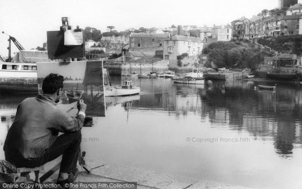 Brixham, Artist In The Harbour c.1965