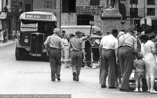 Brixham, Bus Stop, The Strand c.1950
