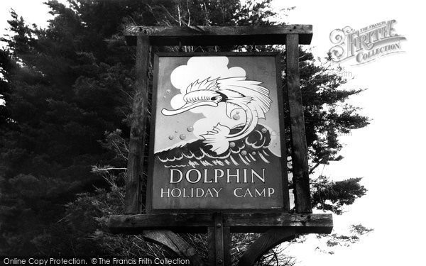 Brixham, Camp Sign, Dolphin Holiday Camp 1956