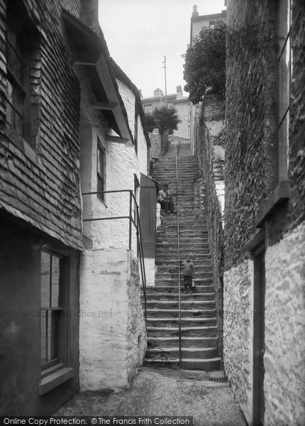 Brixham, Cavern Steps 1922