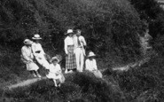 Brixham, Cliff Path, People 1918