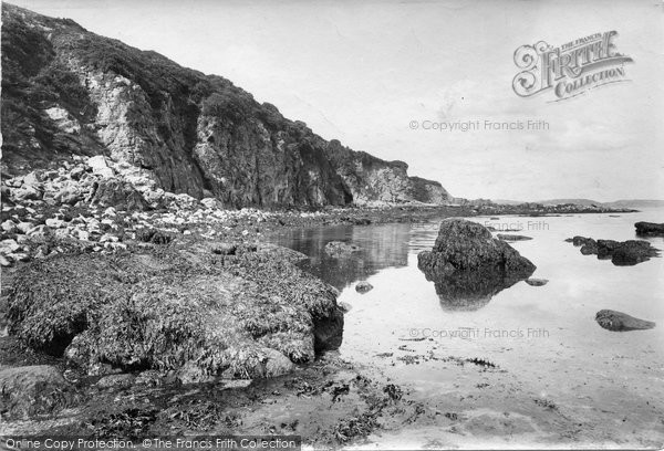 Brixham, Crystal Cave, Broad Sands 1918