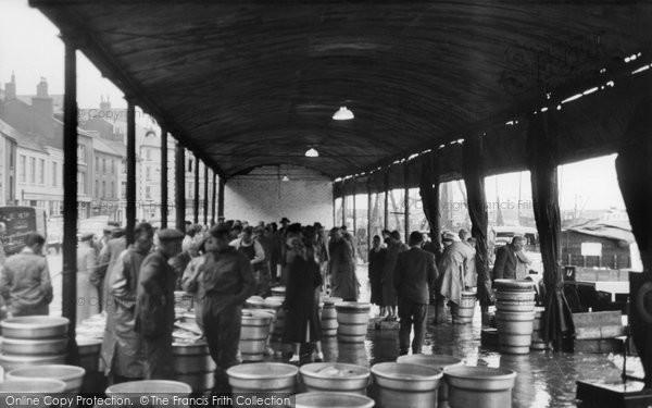 Brixham, Fish Market c.1950