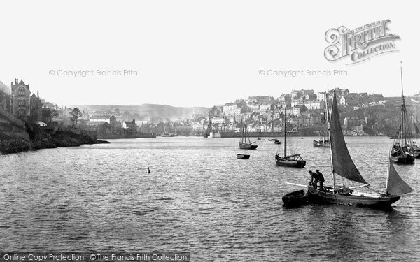 Brixham, From The Breakwater 1896