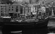 Brixham, Harbour, A Fishing Boat c.1939