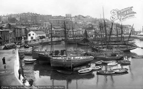 Brixham, Inner Harbour 1922