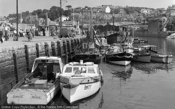 Brixham, Inner Harbour And Quay c.1960