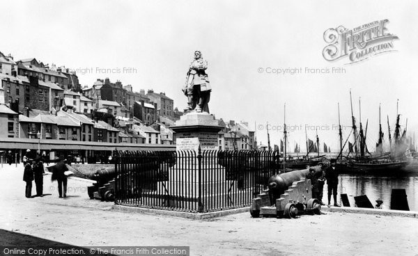 Brixham, Prince Of Orange Statue 1906