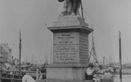 Brixham, Prince Of Orange Statue c.1950