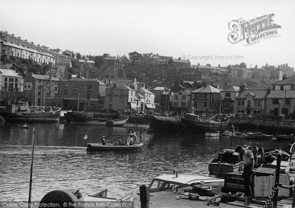 Brixham, The Harbour c.1955