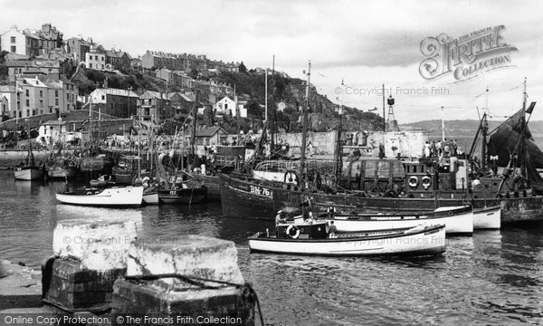 Brixham, The Harbour From Berry Head Road c.1955