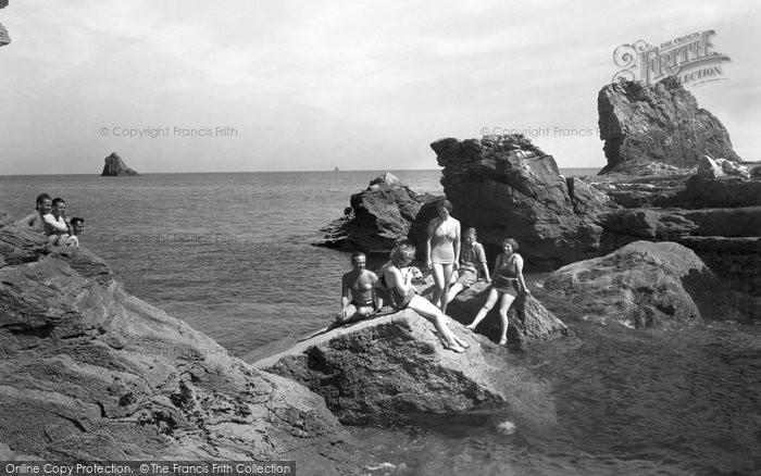 Brixham, The Rocks Bathing Place c.1939
