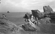 Brixham, The Rocks Bathing Place c.1939