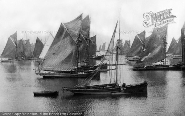 Brixham, Trawlers, Waiting For A Breeze 1889