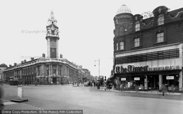 Brixton, Town Hall And Acre Lane c.1955