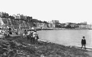 Broadstairs, Donkeys On The Beach 1907