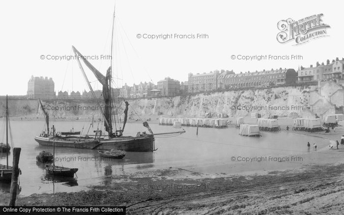 Broadstairs, Thames Barge And The Beach 1897