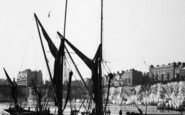 Broadstairs, Thames Barges 1902