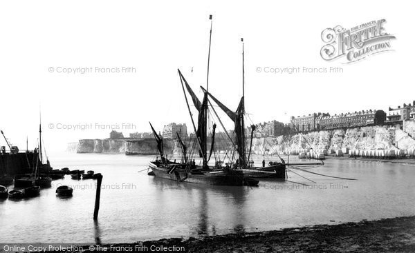 Broadstairs, Thames Barges, The Harbour 1902