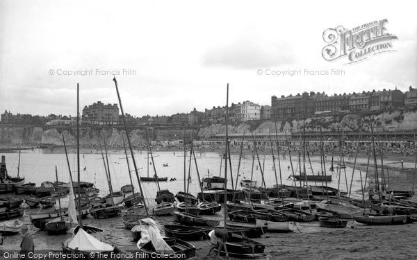 Broadstairs, The Harbour And Bay 1951