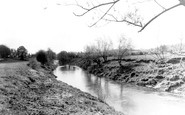 Broadwas, The River Teme c.1955