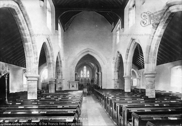 Broadwater, St Mary's Church Interior 1890