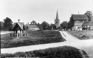 Brockham, Green, Christ Church And Pump 1930