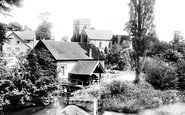 Bromfield, Church And Mill From Bridge 1904