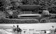 Bromley, The Lake And Bandstand 1968