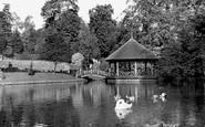 Bromley, The Lake, Church House Gardens c.1950