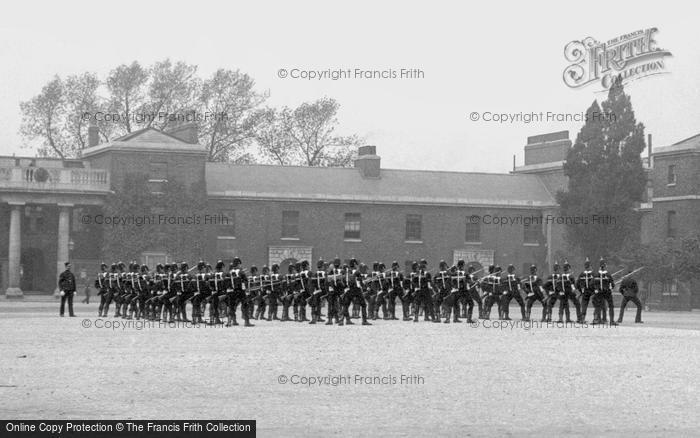Brompton, Soldiers, R E Barracks 1894