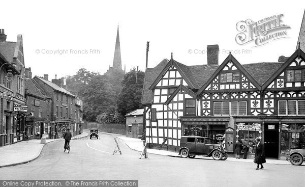 Bromsgrove, High Street Into St John's Street 1931