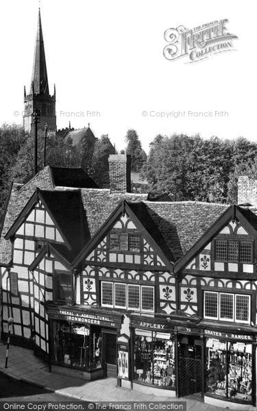Bromsgrove, Tudor House, High Street 1949