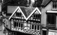 Bromsgrove, Ye Olde Shoppe And Church c.1965