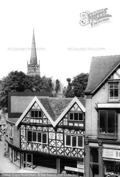 Bromsgrove, Ye Olde Shoppe And St John's Church c.1965