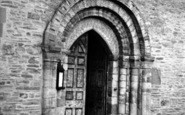 Bromyard, St Peter's Church, South Door c.1955