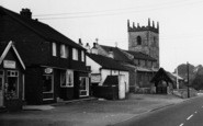Broughton, High Street And Church c.1965