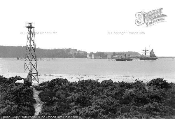 Brownsea Island, From Sandbanks c.1881