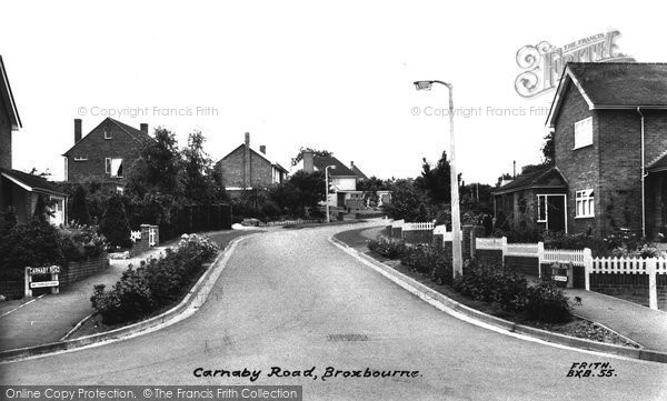 Photo of Broxbourne, Carnaby Road c1960