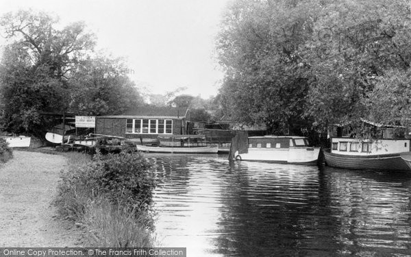 Broxbourne, The River Lea  c.1960
