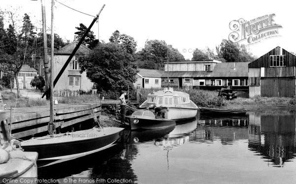 Brundall, Basin And Slipway c.1955