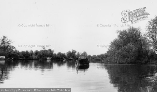 Brundall, Cruiser On River Yare c.1965
