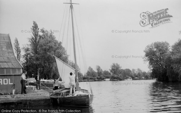 Photo of Brundall, on the River Yare c1965