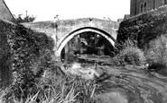 Bruton, Packhorse Bridge c.1955